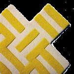 CROSS - yellow & white material
